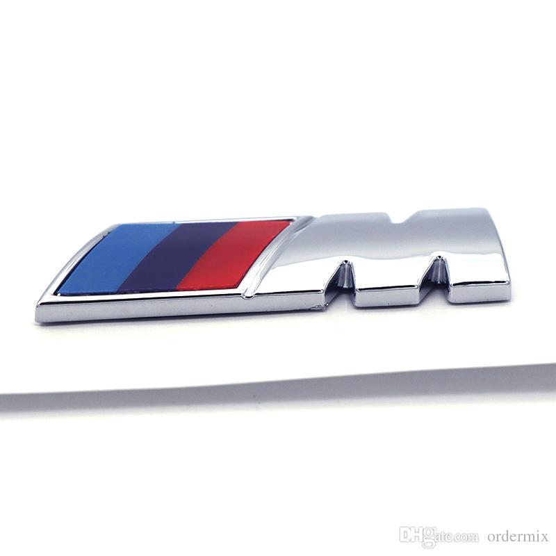 Car styling ABS Car M Power Performance Badge Fender Emblem Sticker M sticker for BMW E46 E52 E53 E60 E90 E93 F30 F20 M3 M5 M6