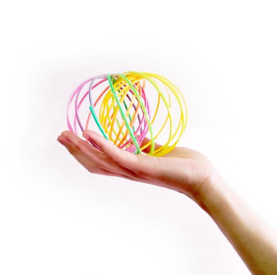 Plastic Flow Ring Rainbow Toroflux Magic Bracelet Kinetic Spring ...