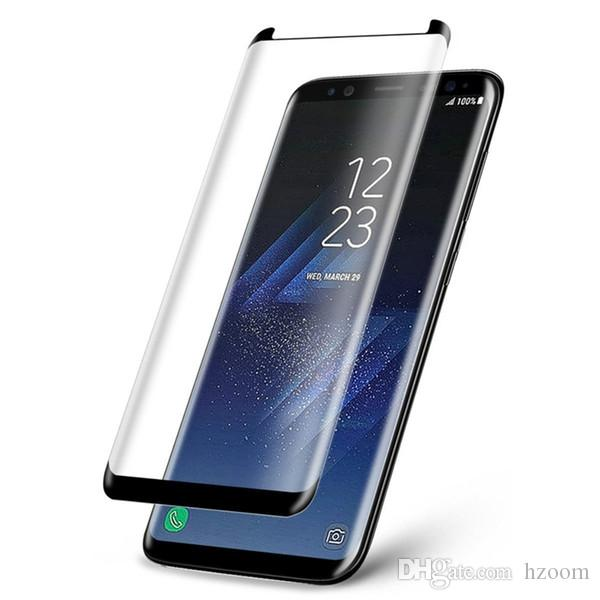 For Samsung S8 S9 Plus Screen Protector Full Cover 3D Curved Tempered Glass Screen Protector Perfect For Galaxy note 9 8 s7 s6 With Package