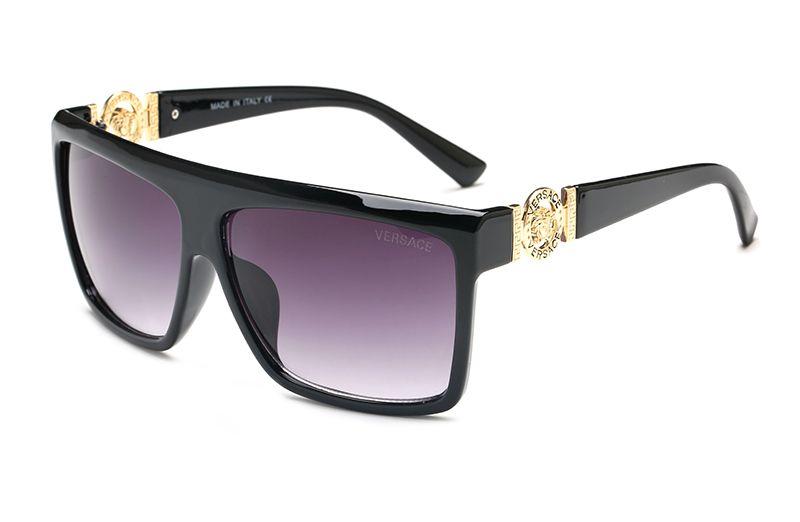 210b46eb75cc Romotion Price Medusa Square Sunglasses Men Women Brand Designer Sunglasses  Flat Top Luxury Vintage Oversized Retro Sunglasses 5013 Custom Sunglasses  Heart ...