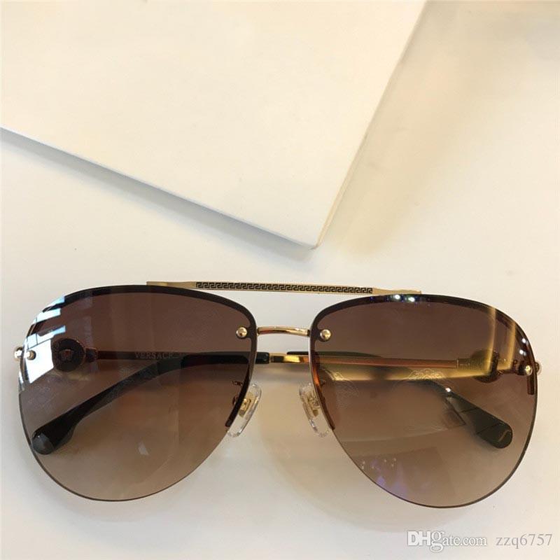 4fdcc99f35 Luxury Fashion Brand Designer Sunglasses Pilots Frameless Logo Lens ...