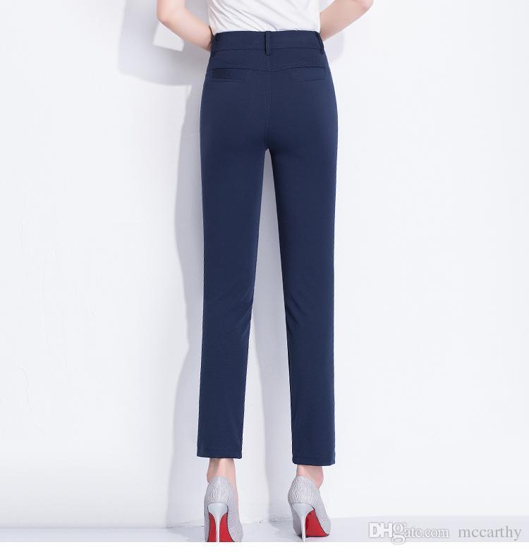 Gerade Hosen Frauen beiläufige Caprihosen schwarz orange grün blau Khaki hohe Taille plus Größe neue Mode Sommer Frühling Hose weiblich jcs0801