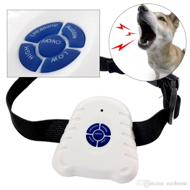 Ultrasonic No Bark Dog Collar Stop Dog Barking Control Devices Anti Barking with Button Clicker Nylon Belt for Training Small and Medium Dog
