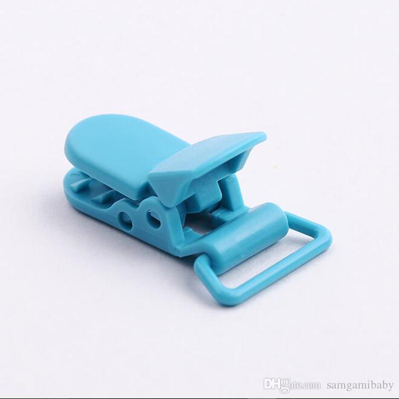 100 قطع 20 ملليمتر kam تماما البلاستيك هوة كليب مهدئ حامل ل هوة الطفل متعدد الألوان لاختيار شحن مجاني