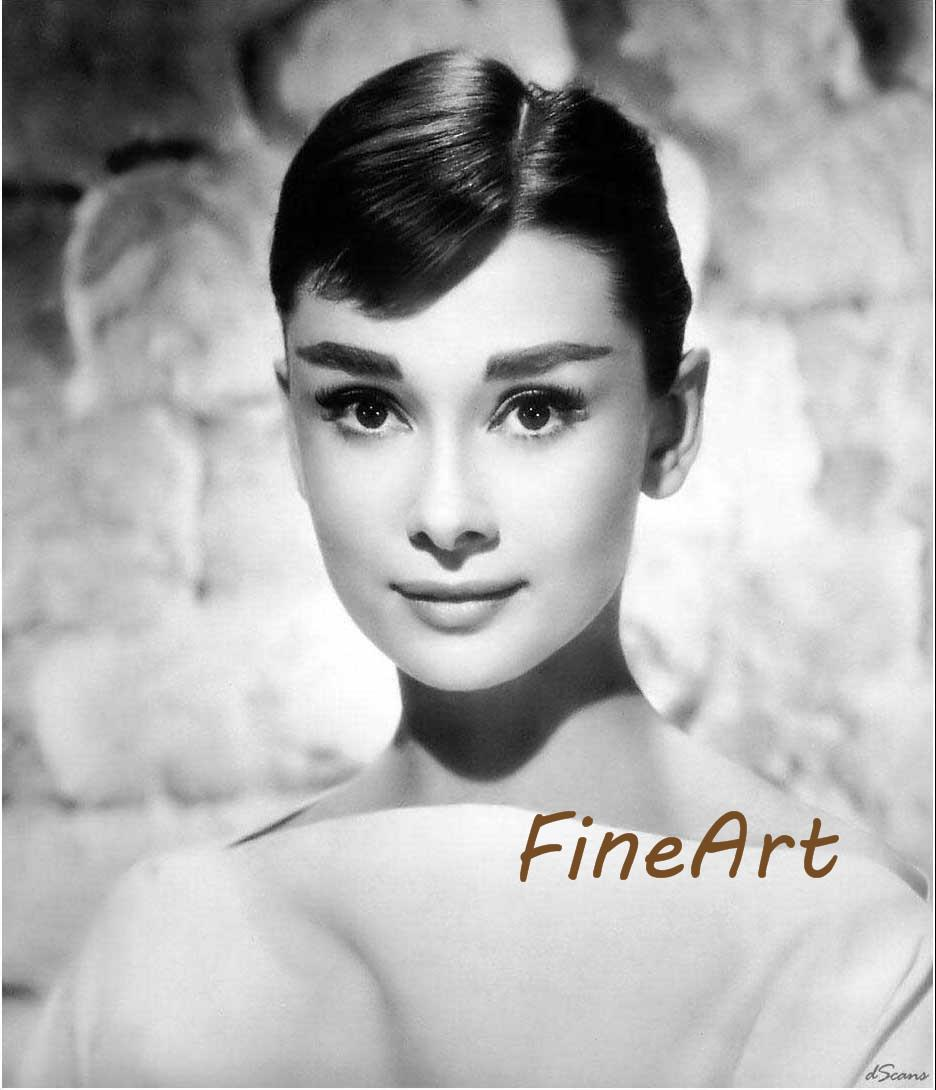 2019 Hand Painted Oil Wall Art Audrey Hepburn Oil Painting Black And