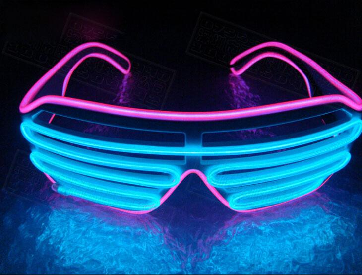 Multicolor Eyeglass Cold Lights EL Wire LED Light Glasses Party Supplies Cheerleading Cheer Props For Christmas Gift 15oy C R