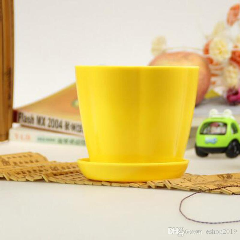 2018 Flower Pots Mini Flowerpot Garden Unbreakable Plastic Nursery Pots for Succulent Plants Home Decoration Small Flower Bed