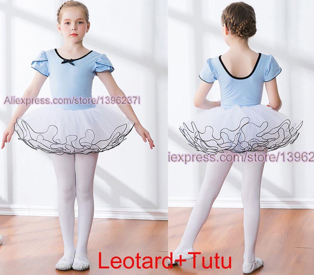 af2d111914 Compre Vestido De Balé Para Meninas Rosa Céu Bule Collant De Algodão Tutu  Ballet Dança Traje Profissional Crianças Swan Lake Dance Ballet Saia De ...