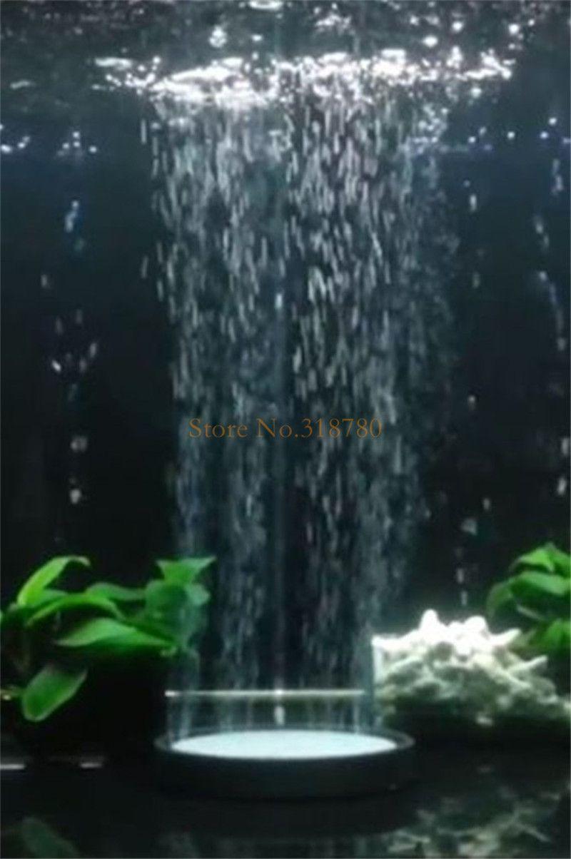 様々な直径の水族館の気泡石のディスクの魚のタンク酸素の空気ポンプの曝気装置の水塩酸酸素の泡石アクセサリー