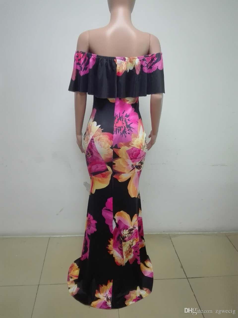 2018 african bazin dresses for women african Three Quarter sleeves dresses for women african clothing wax dashiki fabric