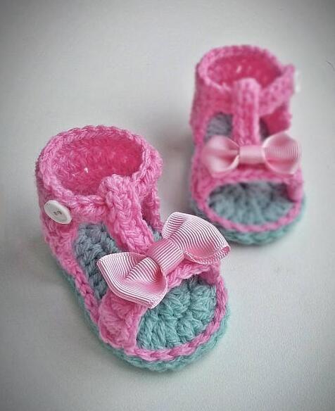 Großhandel Handband Baby Sandalen Häkeln Babyschuhe Kinder Mädchen