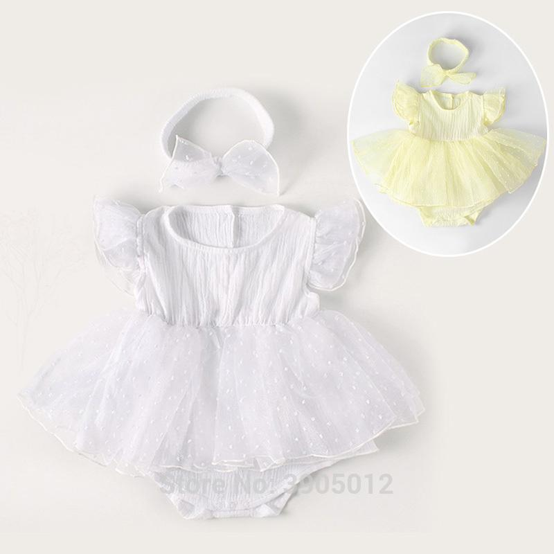 22520c416c44 2019 New Born Baby Girls Infant Dress Clothes Summer Kids Party ...