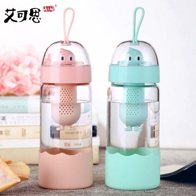 My Glass Water Bottle Glass Girls Cute Creative Portable Fresh