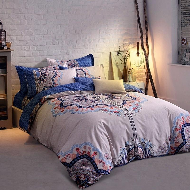 a87fa32353e 100%Cotton Large Printing Flower Chinese Style Bedding Sets Bed Linen  Bedclothes Printed Bed Sheet Duvet Cover Set Modern Duvet Pretty Duvet  Covers From ...