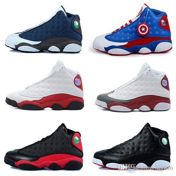 1a9feea10800f7 2019 Cheap 2018 High Quality Shoes 13 XIII 13s Men Basketball Shoes Women  Bred Black Brown White Hologram Flints Grey Sports Sneakers Size5.5 13 From  Bigtoo ...