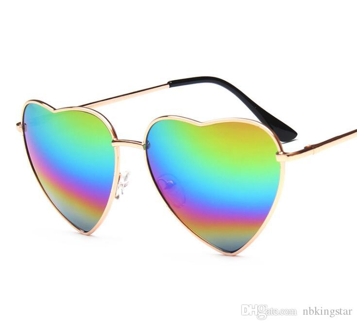 437e9f3ce67f9 Fashion Heart Shaped Sunglasses Brand Designer Women Metal Reflective Lens  Fashion Sun Glasses Men And Women Mirror New For Party Gifts Mirrored  Sunglasses ...