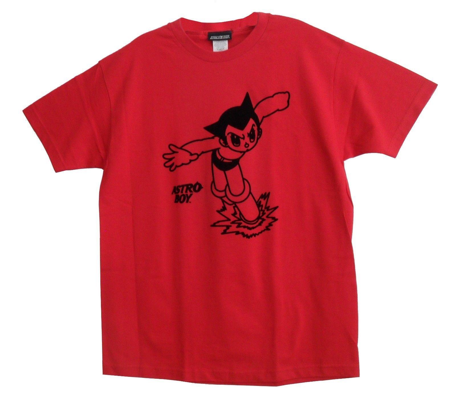 25d6a1764 Japanese Anime Astro Boy Men's T-shirt Red Mighty Atom manga by Osamu  Tezuka Comfortable t shirt Casual Short Sleeve Print