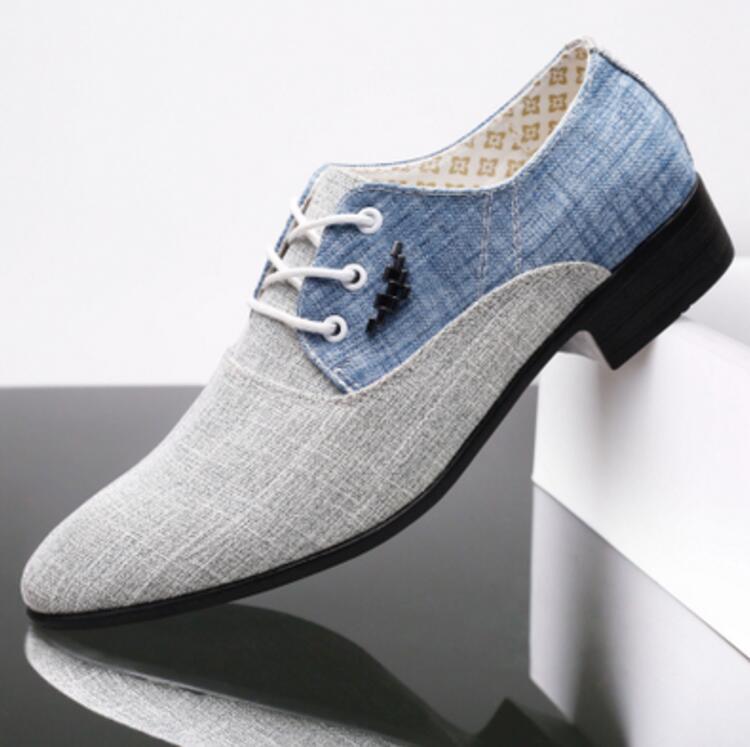 Compre Zapatos Hombre Vestir Lona De Boda Para Hombres Zapatos Ocasionales  Lona Respirable Mocasines De Cuero 2018 Zapatos De Salón Para Hombres  Chaussures ... 192a8cb9da3e