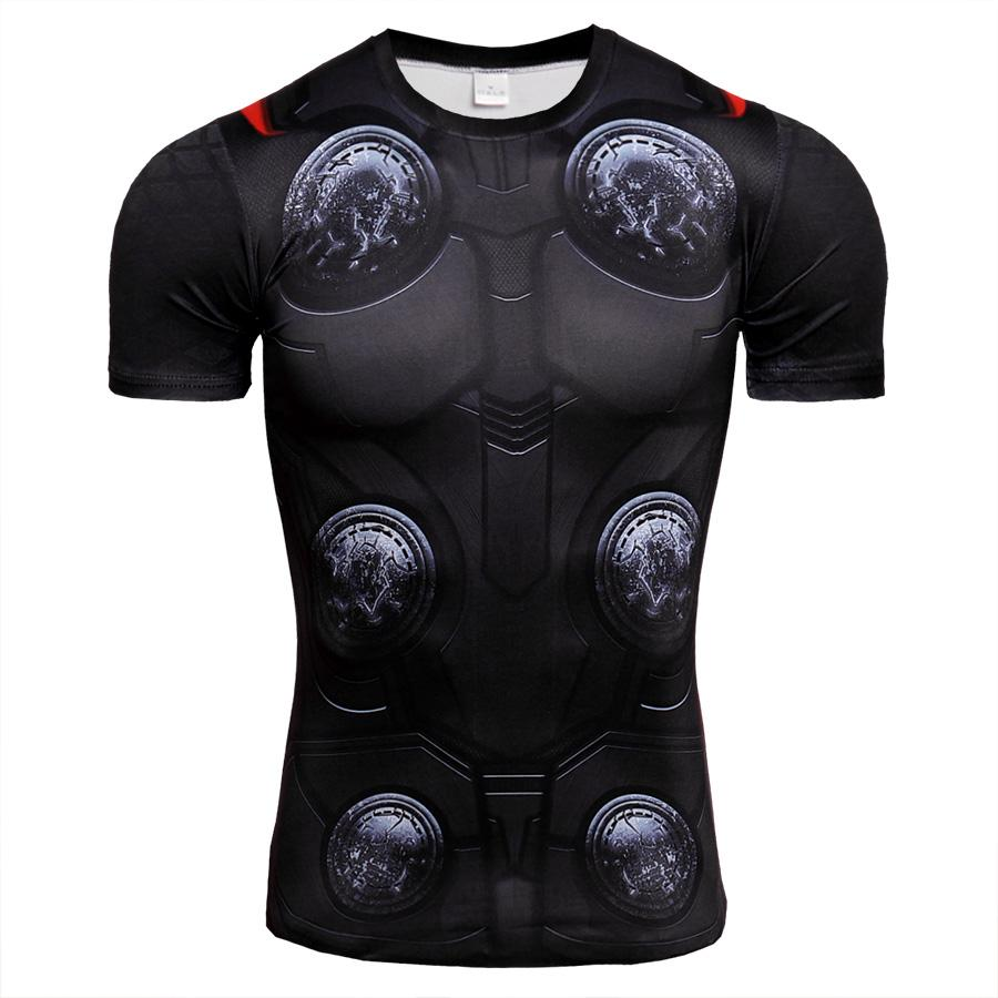 e9aaacdd0f5 2019 3D Printed Running Shirt Men Quick Dry Compression Short Sleeve Fitness  T Shirts Cool Gym Sport Clothing Tight Tops Tee Rashgard From Yiquanwater