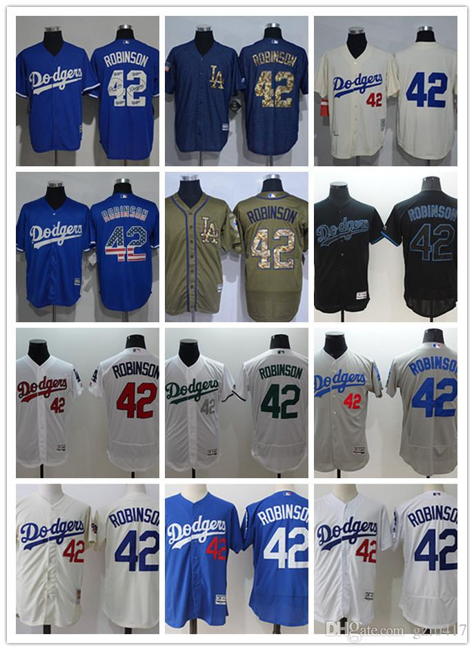 Custom Men s Women Youth LA Dodgers Jersey Jersey  42 Jackie Robinson Home  Blue White Baseball Jerseys LA Dodgers Jersey Baseball Jerseys 42 Jackie  Robinson ... 54021686f60