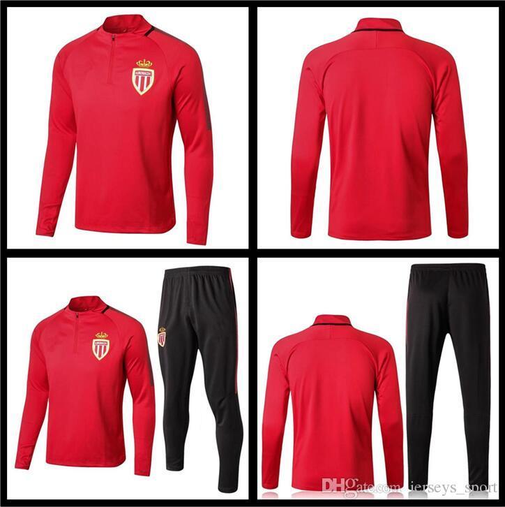 Uniforms Monaco Soccer 2019 Sets Set FALCAO MBAPPE From Suit Tracksuit Full sport AS Jerseys Soccer Football Quality 20172018 Training Best Uniform OqwSqfvI