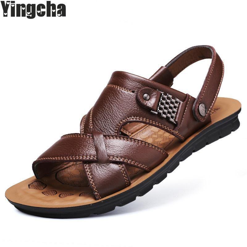 3a1d16ab34cd Men Casual Beach Shoes High Quality Summer Sandals Soft Sole Fashion ...