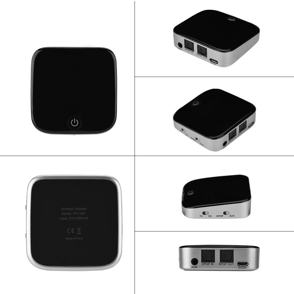 محول الصوت بلوتوث الارسال استقبال بلوتوث لاسلكية مع بصري كيبلات / SPDIF + ستيريو 3.5mm كابل