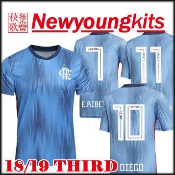 34ccdc12769bc 2018 19 Flamengo Soccer Jersey 18 19 Third Azul Uniformes De Fútbol  GUERRERO DIEGO ZICO VINICIUS Camiseta De Fútbol Por Newyoungkits