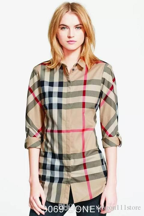 5f355cef CAMIXA Women's Gingham Checkered Casual Button-Down Shirt Go Preppy Tartan  Plaid Flannel Shirts, Roll up Sleeve Casual Boyfriend Button down