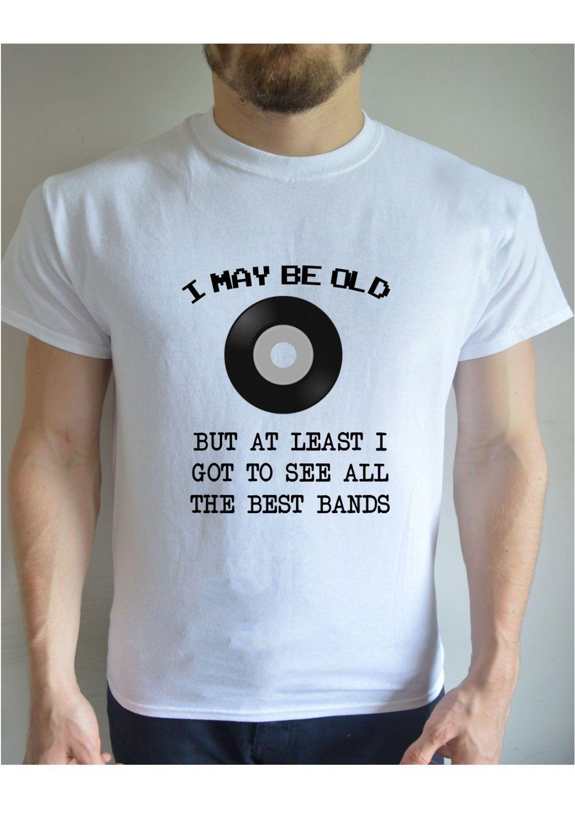e6a404d9 I May Be Old Bands Dad Music Printed T Shirt Crew Funny Christmas Retro  Vintage Casual Short Sleeve T Shirt Summer Men'S Fashion Tee Funniest T  Shirt ...
