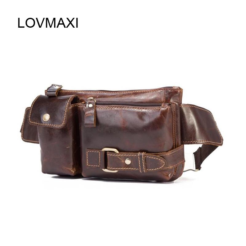 efb104a60fe1 LOVMAXI Genuine Leather Waist Packs Belt Men Waist Bags Fanny Pack Belt Bags  Phone Pouch Travel Male Small Bag Leather Pouch Bag Kavu Backpack Waist  Purse ...