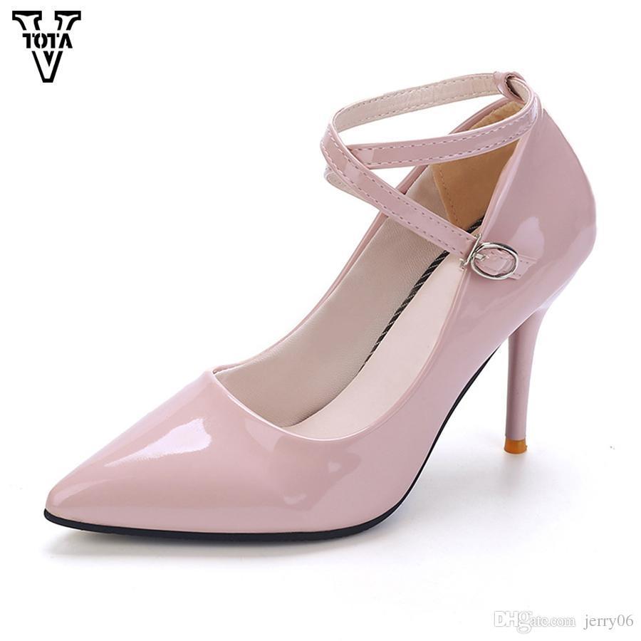 Großhandel Neue Frauen Schuhe Spitzschuh Pumps Frauen Frau Dünne