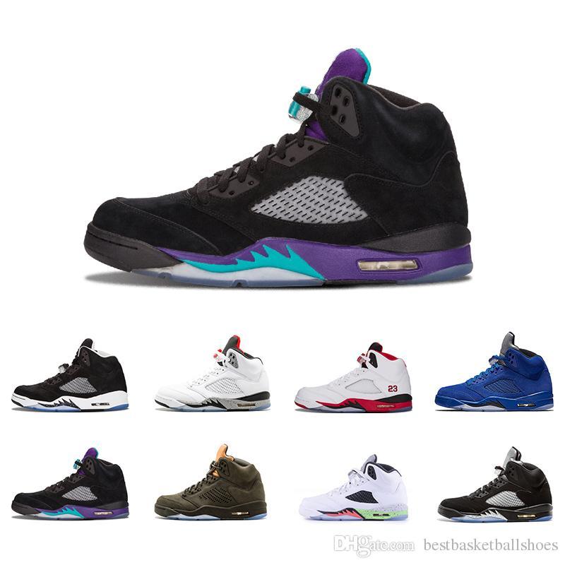 1f5f670f454b New Black Grape 5 5s Mens Basketball Shoes OG Black Metallic Oreo ...