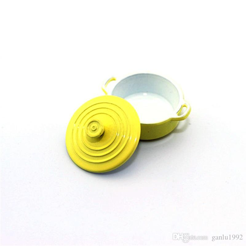 1:12 Mini Dollhouse Accessories Simulation Color Pot Life Scene Model For Kitchen Goods Utensils Static Fittings 7js W