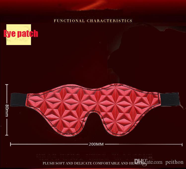 Новый сексуальный 8шт/комплект фетиш секс-рабства секс игрушки для пар,три цвета,ноги наручники наручники кляп руки гладят воротник маска для глаз