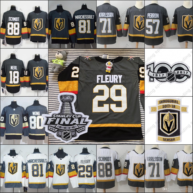 2018 Vegas Golden Knights Hockey Jersey Stanley Cup Final Patch ... d6814d226