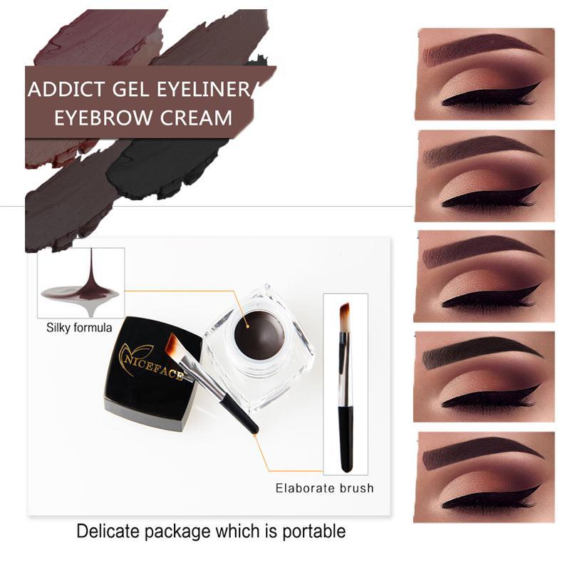 5 Styles Waterproof Henna Eyebrow Enhancer Eye Liner Gel Long
