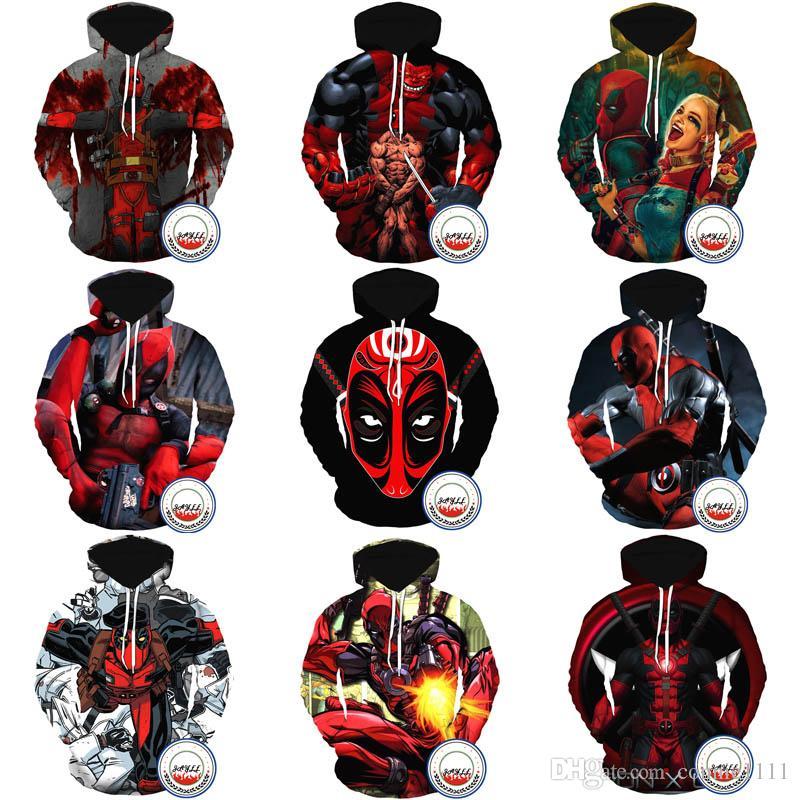 Deadpool Street Hoodies Pullover Uomo 3d Tee Donna Fashion Acquista HqFfAA
