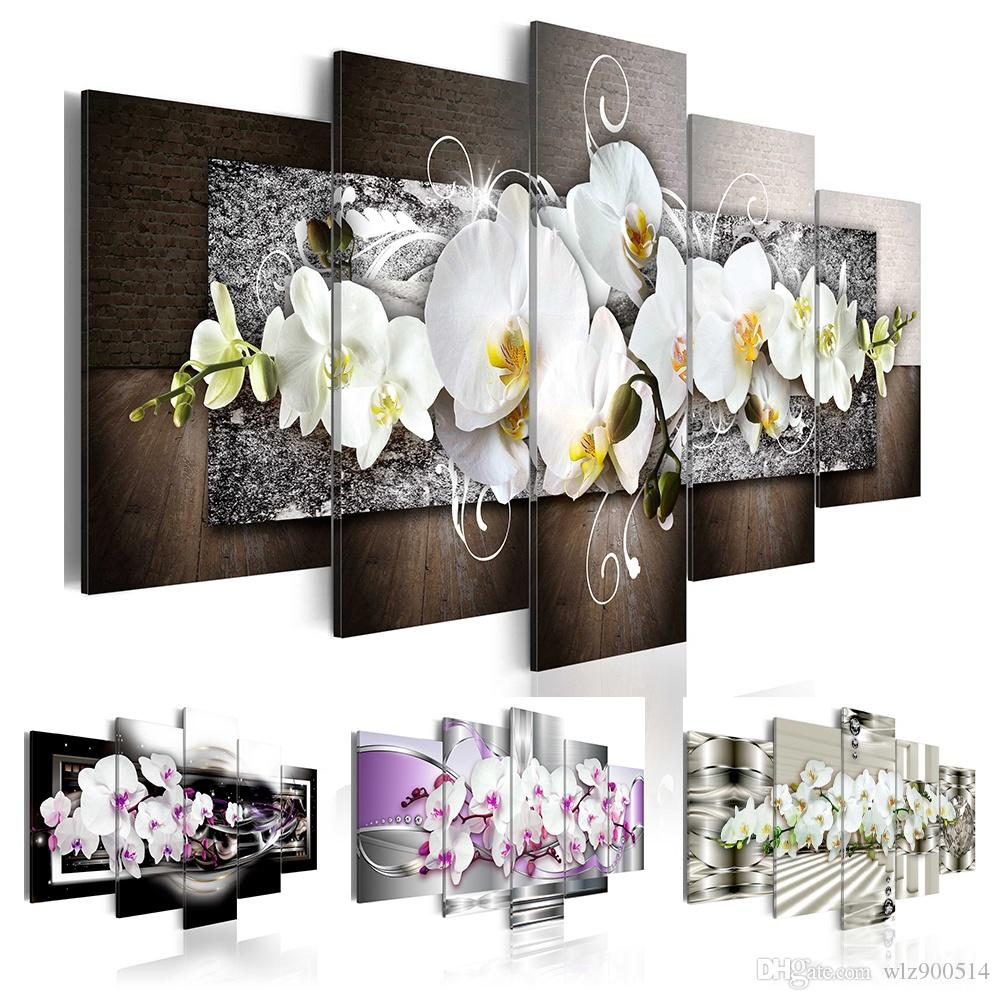 2018 No Frame Canvas Print Modern Fashion Wall Art The Flower For ...