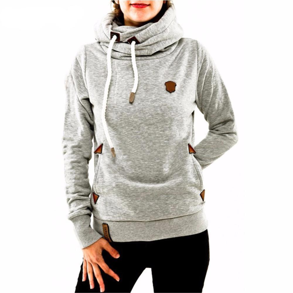 official photos e121d 57ebd Winter Hoodies For Women Cotton Long Sleeve Pocket Thick Keep Warm Fashion  Pullovers Ladies Coat Outwear