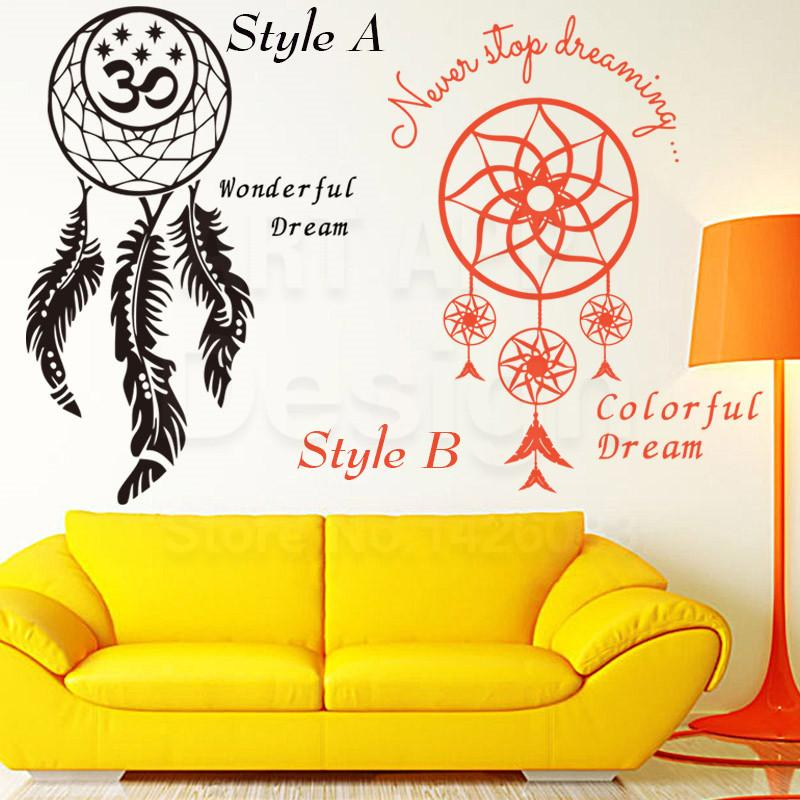 Art Design Home Decoration Cheap Vinyl Dream Catcher Wall Sticker ...