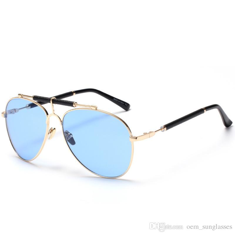 2018 New Luxury Pilot Sunglasses Golden Silver Plating Frame Driving ...