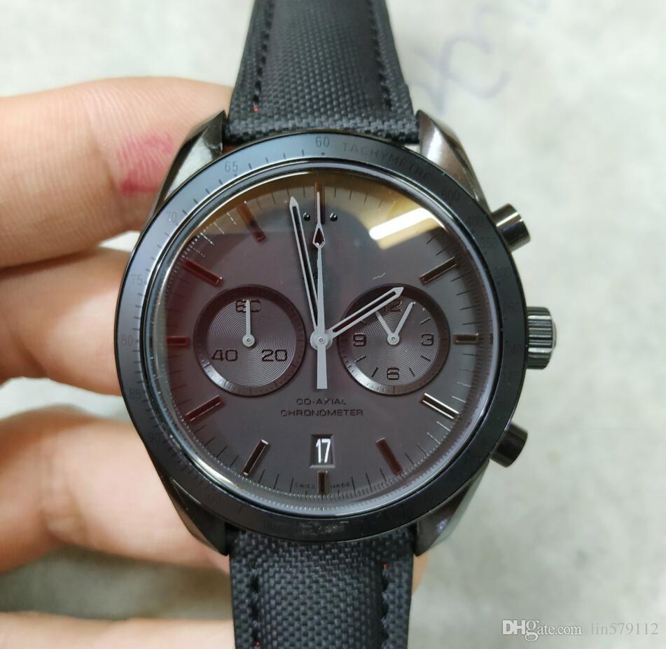 1ec95eed2283 New Blackbird Men s High Quality Moon Fashion Timing Black Co-axial ...