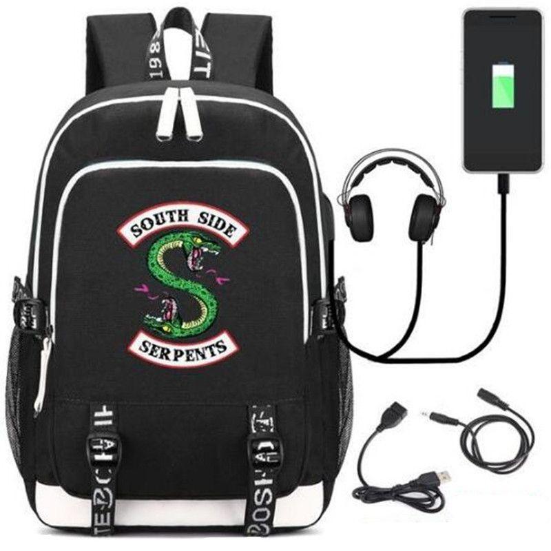 2018 New Riverdale Southside Serpents Backpacks School Bag Usb