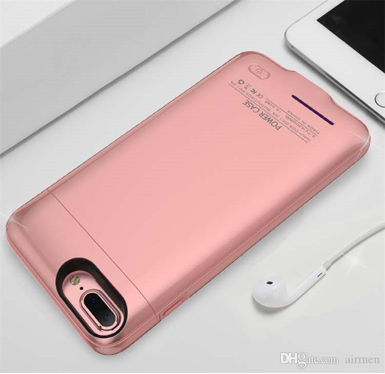 Yeni şarj kılıf iphone X 6 s 7 8 artı dahili mıknatıs ile Ultra Ince Backshell kablosuz şarj durumda Harici Pil güç bankası