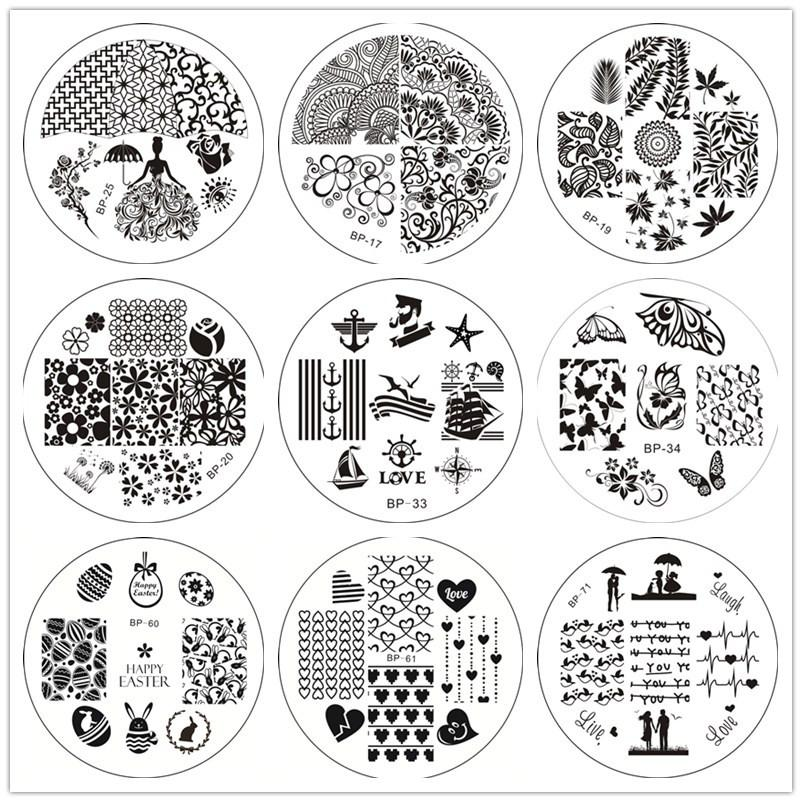 Born pretty stamping plates spring flower leaves butterfly design born pretty stamping plates spring flower leaves butterfly design nail art stamp image template manicure stencils decoration diy nail art nail art gallery mightylinksfo