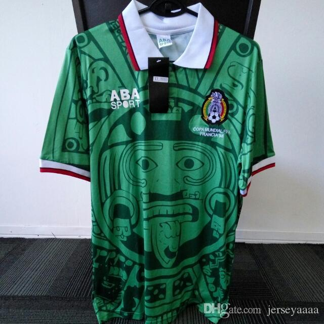 8ed3497eb 2019 Top AAAA Quality 1998 Mexico Home Retro Jersey Shirt VINTAGE Jersey  Shirt BLANCO #11 World Cup Football Shirt From Jerseyaaaa, $23.36 |  DHgate.Com