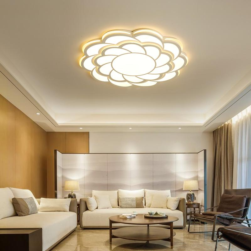 In Quality Modern Led Crystal Ceiling Lights Remote Dimming Flat Panel Lamp Living Room Bedroom Lights Indoor Home Fixtures Free Shipping Excellent