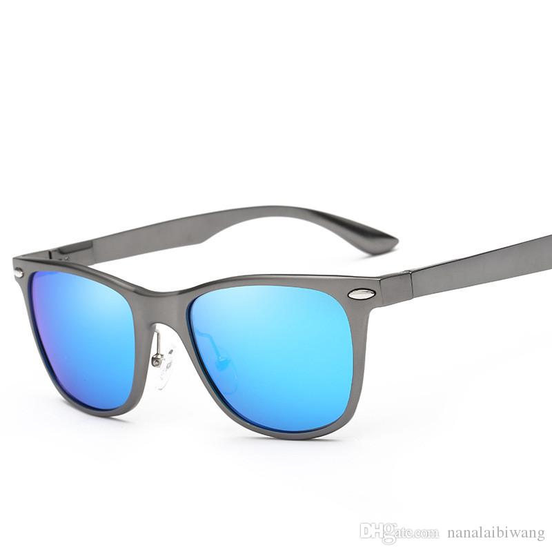 Brand Design Unisex Retro Aluminum Sunglasses Polarized Lens Fashion Square Eyewear  Sun Glasses For Men And Women Sunglasses Lunette De Soleil Gafas De Sol ... 7c347871e6f2