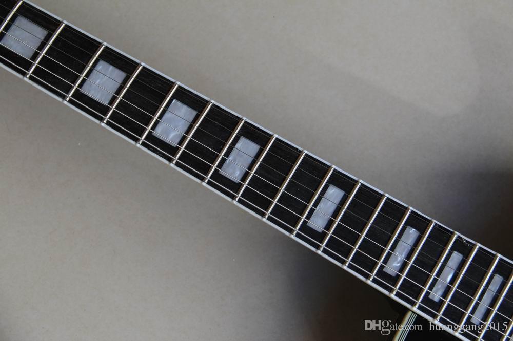 Atacado China Guitarra Gibsonlp Personalizado Guitarra Elétrica, Ebony Fingerboard, Fretside Vinculativo de Alta Qualidade Em Estouro Marrom 120130